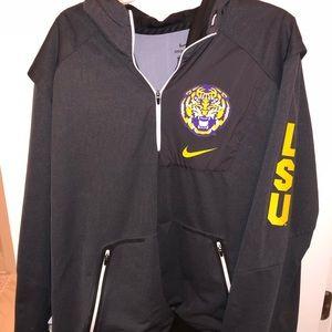 Nike LSU  1/4zip  pullover jacket